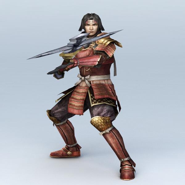 Japanese Samurai Warrior 3d model
