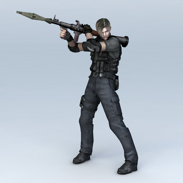Police SWAT with RPG 3d model