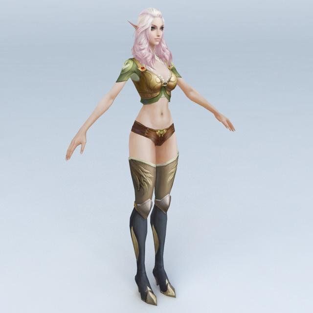 Half-Elf Woman 3d model