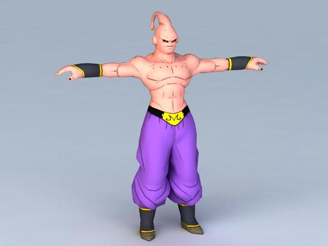 Majin Buu Character 3d model