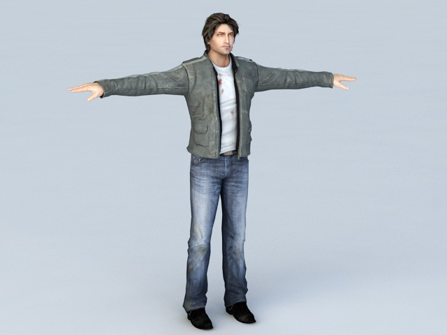 Middle-aged Man Character 3d model