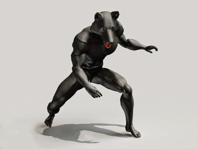 Werewolf Concept Art 3d model