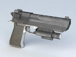 Pistol with Light 3d model