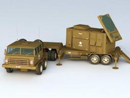 Patriot Missile Radar Control Station 3d model
