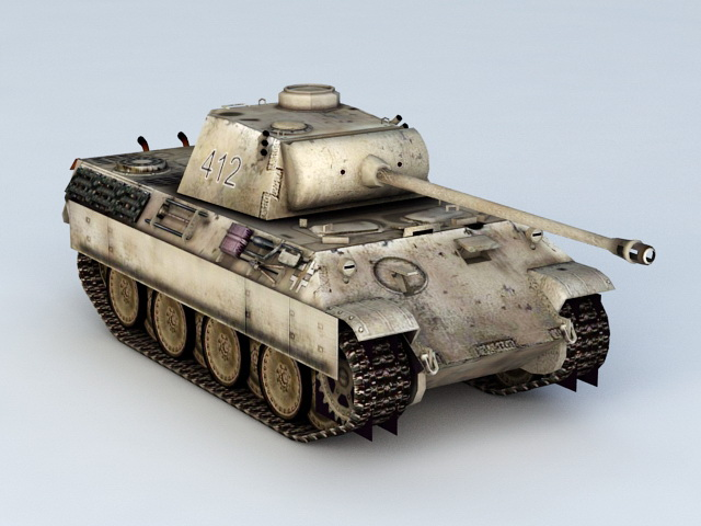 German Panther Tank 3d Model 3ds Max Files Free Download