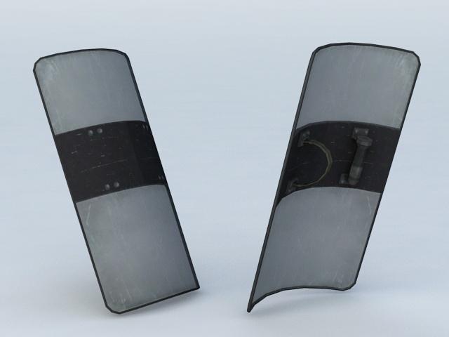 Police SWAT Shield 3d model