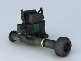 Bazooka Launcher 3d model