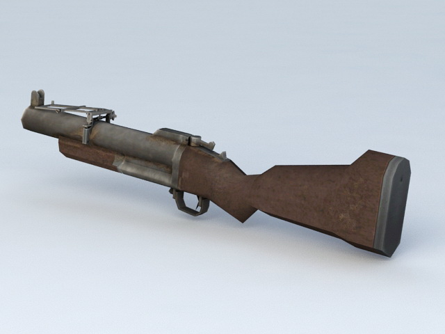 Shotgun with Grenade Launcher 3d model