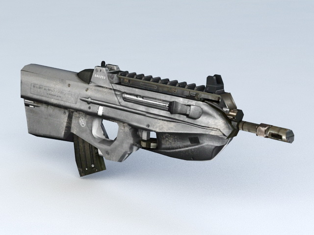 FN F2000 Bullpup Assault Rifle 3d model