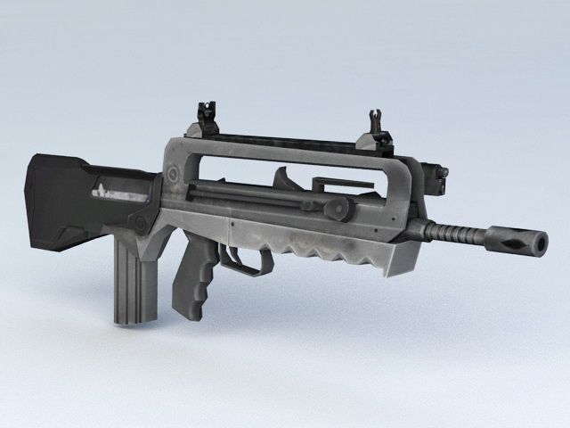 Assault Rifle Weapon 3d model