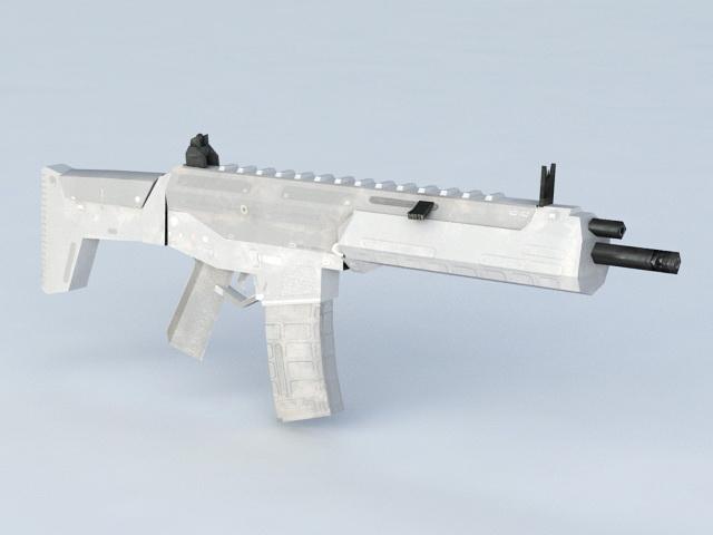 CAL 5.56 Assault Rifle 3d model