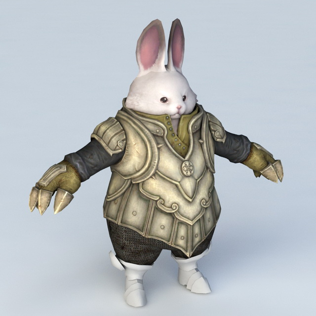Rabbit Warrior 3d model
