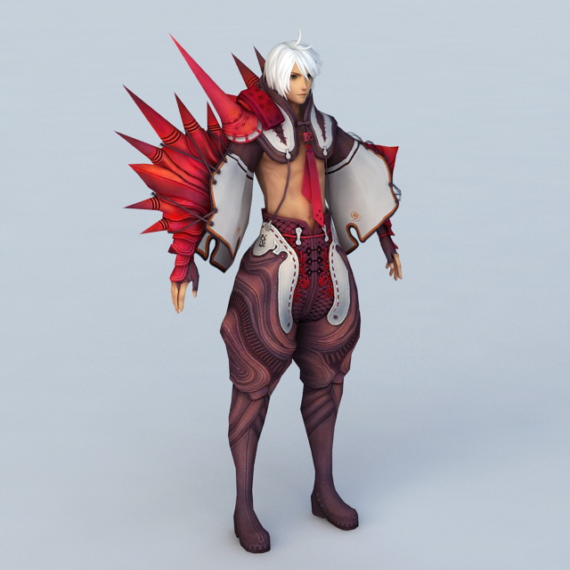 Male Dragon Warrior 3d model