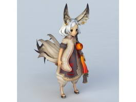 Cute Fox Girl 3d model