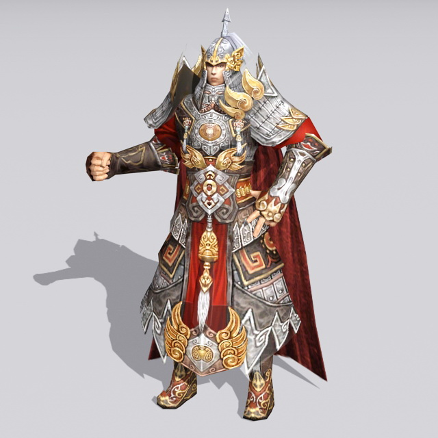Ancient Chinese Warlord 3d Model 3ds Max Files Free