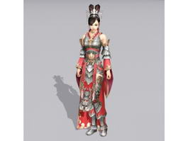 Female Chinese Warrior 3d model