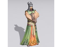 Ancient Chinese Merchant 3d model