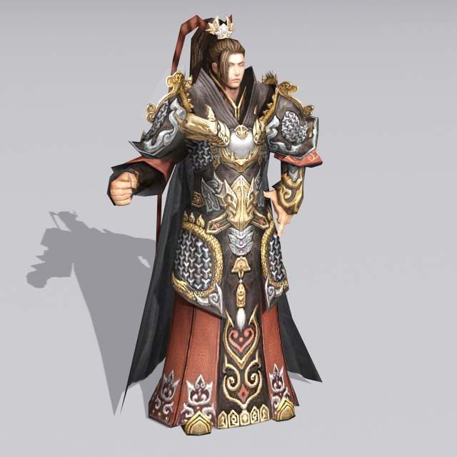 Chinese Imperial Prince Character 3d model