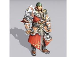 Ancient China Warrior 3d model