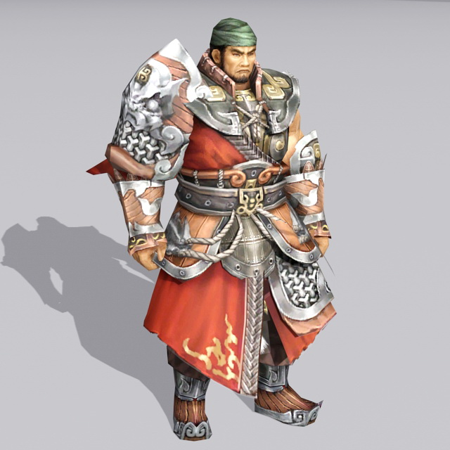 Ancient China Warrior 3d model