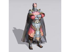Masked Warrior Character 3d model
