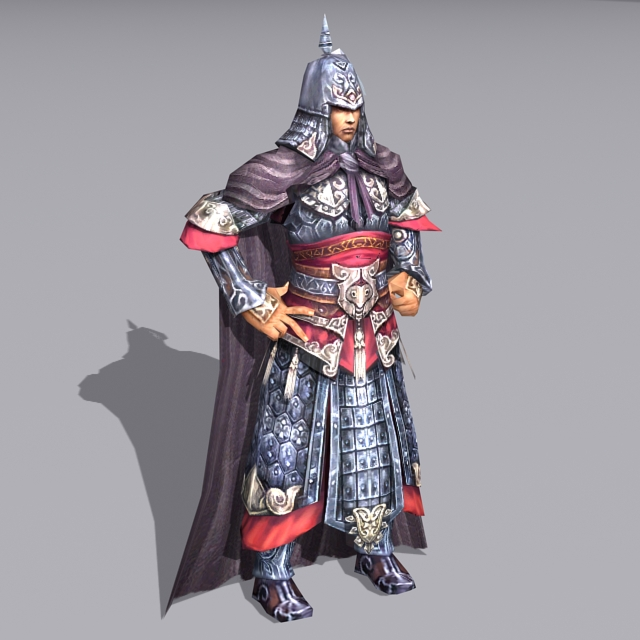 Medieval Chinese General 3d Model 3ds Max Files Free