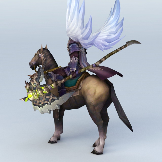 Angel Warrior Riding Horse 3d Model 3ds Max Files Free