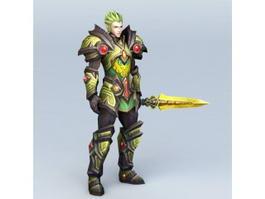 High Elf Guard Character 3d model