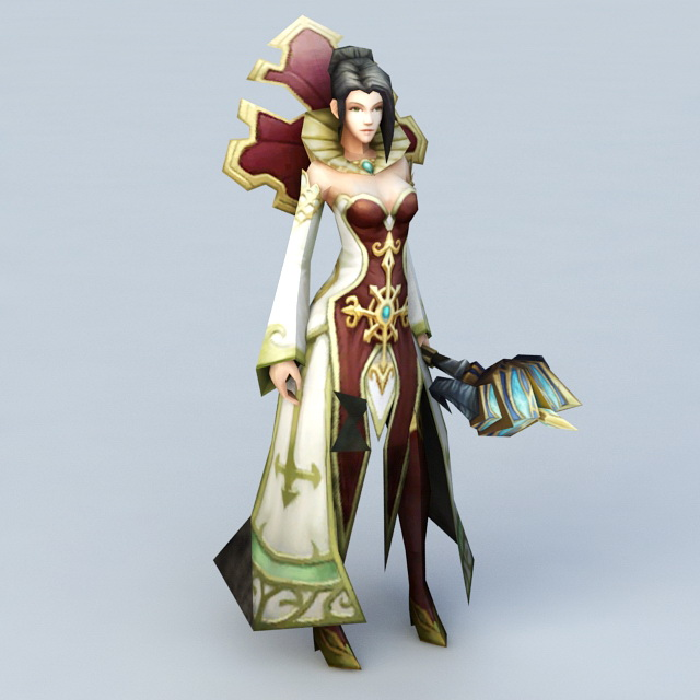 Human Female Priest 3d model