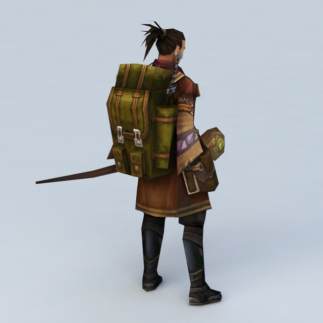 Medieval Adventurer Man 3d Model 3ds Max Files Free