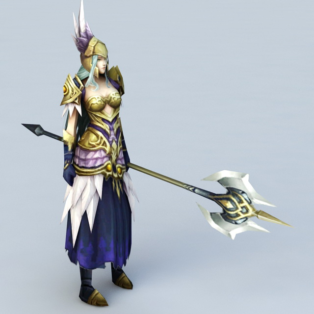 Female High Elf Warrior 3d Model 3ds Max Files Free