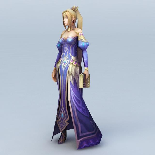 Female Sorceress Character 3d model