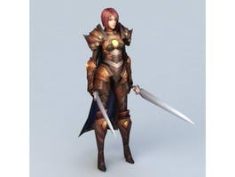 Celtic Warrior Woman 3d model
