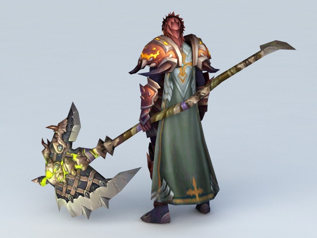 Great Axe Warrior 3d Model 3ds Max Files Free Download