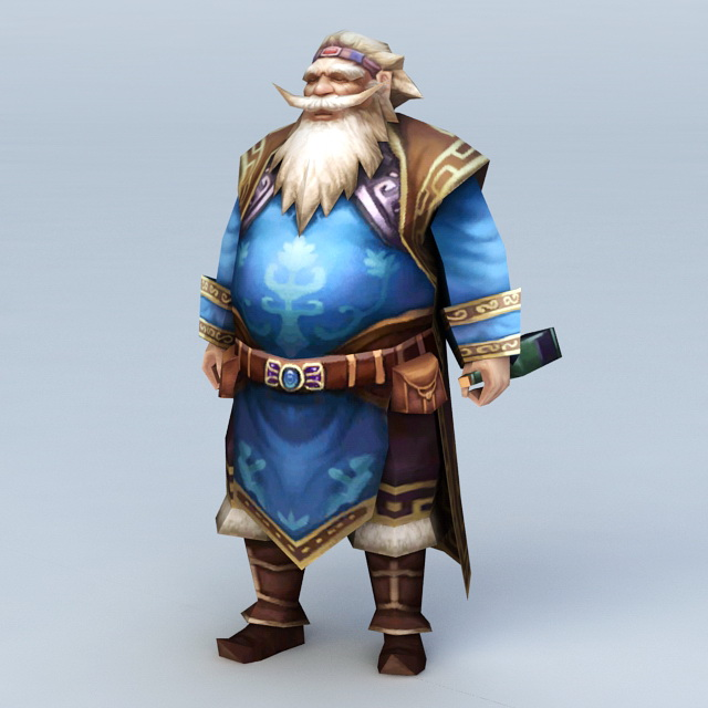Drunk Old Man 3d model