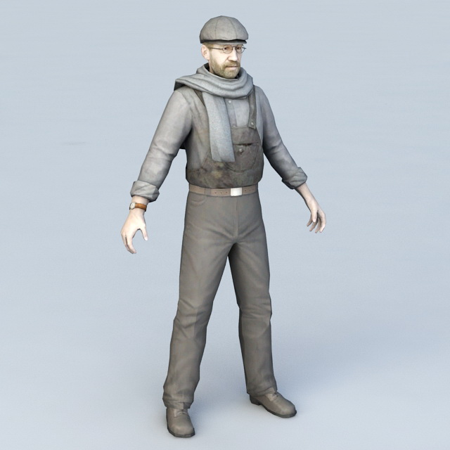 Male Engineer Character 3d model