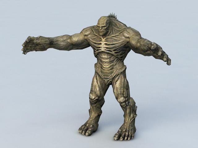 Marvel Abomination 3d Model 3ds Max Autodesk Fbx Object