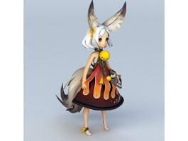 Anime Fox Girl Character 3d model