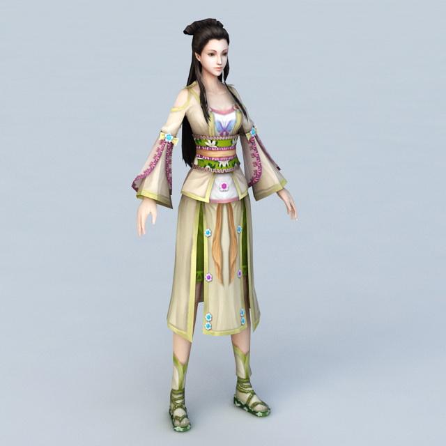 Ancient China Woman 3d model