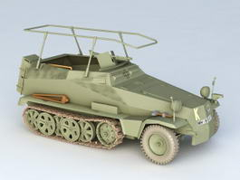 Sd.Kfz.250-3 Command Vehicle 3d model
