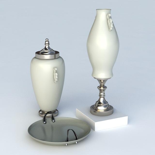 Decor Ceramic Trophy 3d model