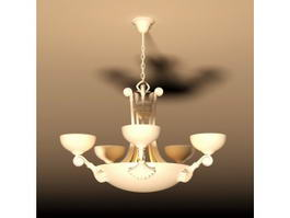 Aged Bronze 5 Light Chandelier 3d model