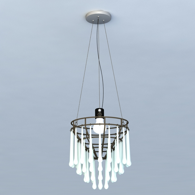 Drop Crystal Chandelier Lights 3d model 3ds Max files free download ...