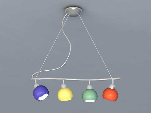 Kitchen Island Lighting Pendant Lights 3d model