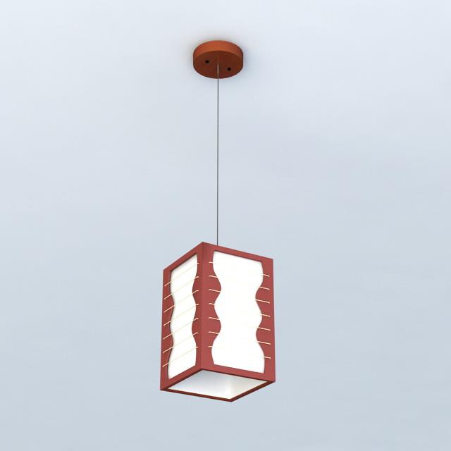 Asian Style Pendant Lights 3d model
