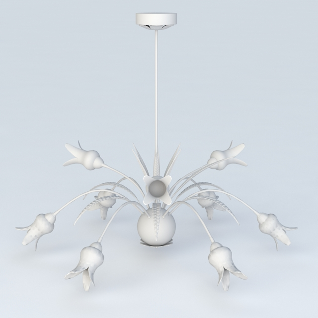 Flower Chandelier Design 3d model