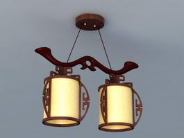 Chinese Style Light Fixtures 3d model
