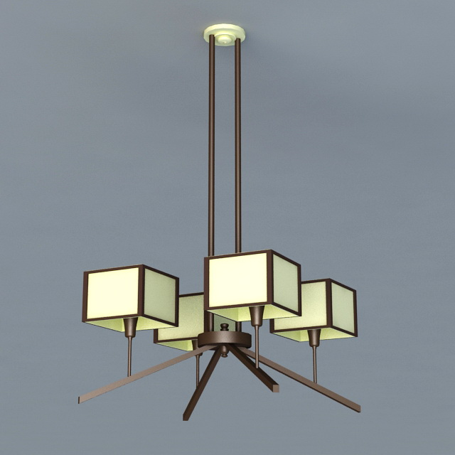 Postmodernism Chandelier 3d model