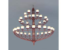 Horizon Ring 3 Tier Chandelier 3d model