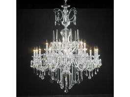 Antique Italian Crystal Chandelier 3d model